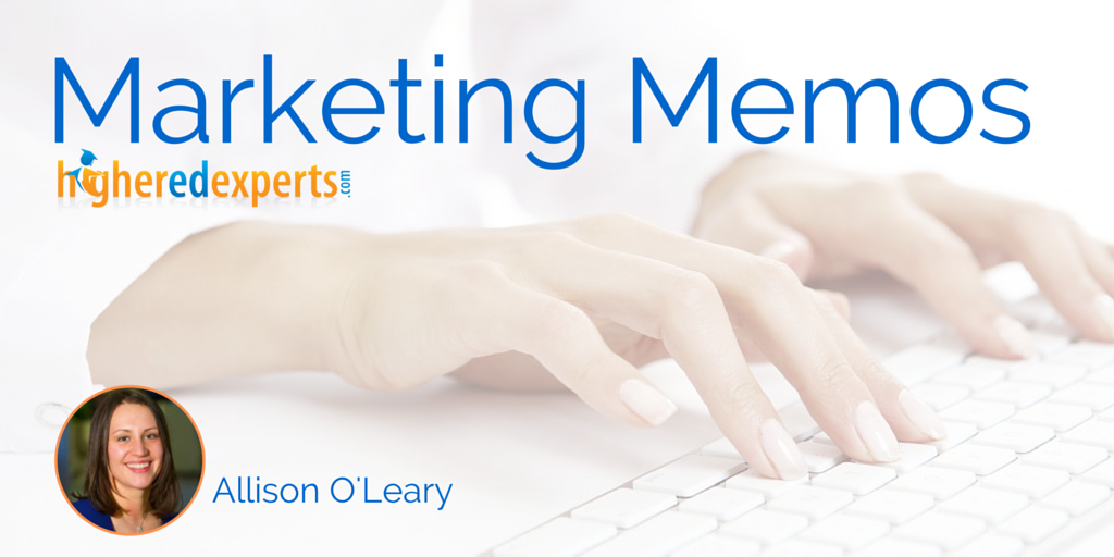 Higher Ed Marketing Memos: When your new #highered president embraces social media by Allison O'leary