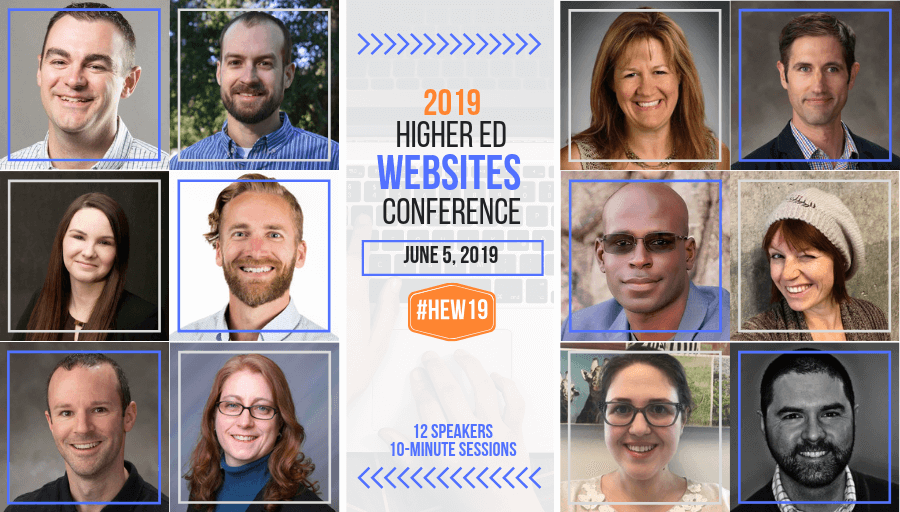 What's in the 2019 #HigherEd WEBSITES Conference for you? Find out with this #HEW19 Visual Preview!