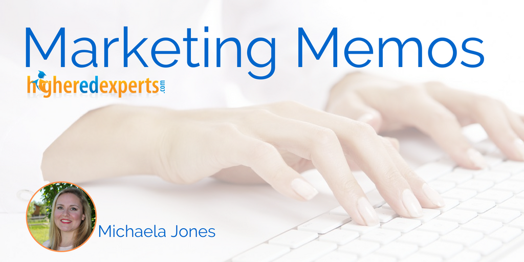 #HigherEd Marketing Memos: Why and how to re-purpose higher ed written content by Michaela Jones