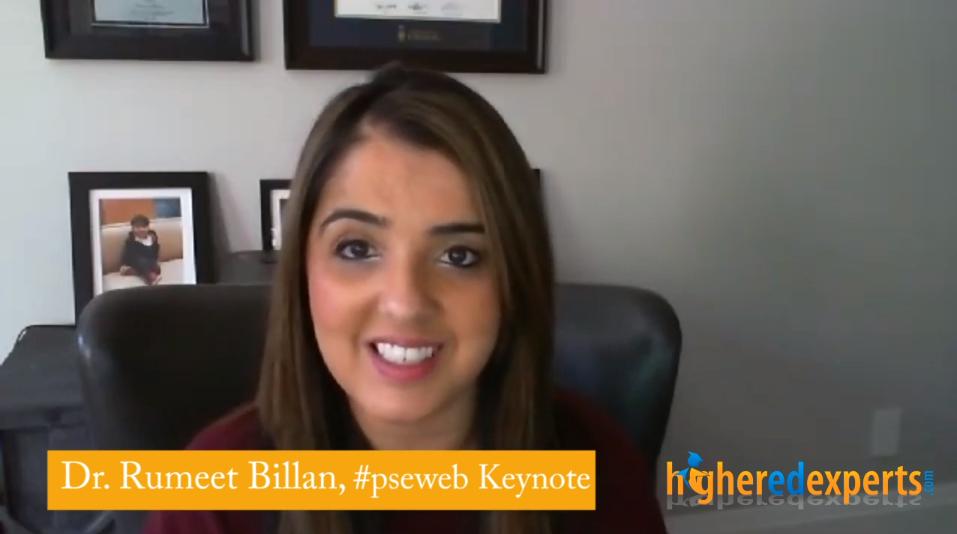 4-question interview with Dr. Rumeet Billan, #PSEWEB 2018 Keynote Speaker [4-min VIDEO]