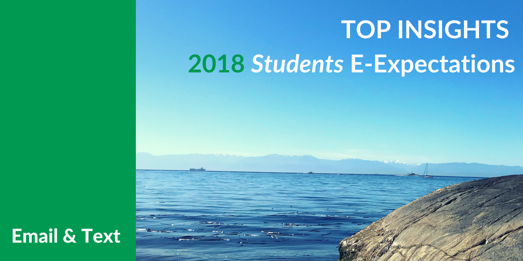 Top Insights on Email & Text for #HigherEd from the 2018 Student E-Expectations Survey [Exclusive]