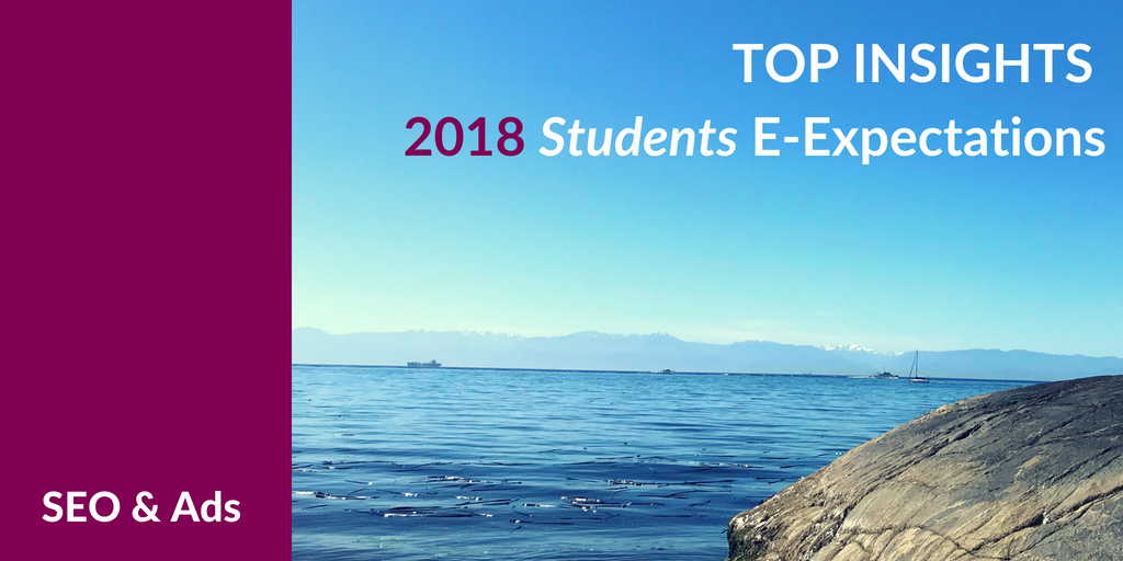 Top Insights on SEO & Ads for #HigherEd from the 2018 Student E-Expectations Survey [Exclusive]