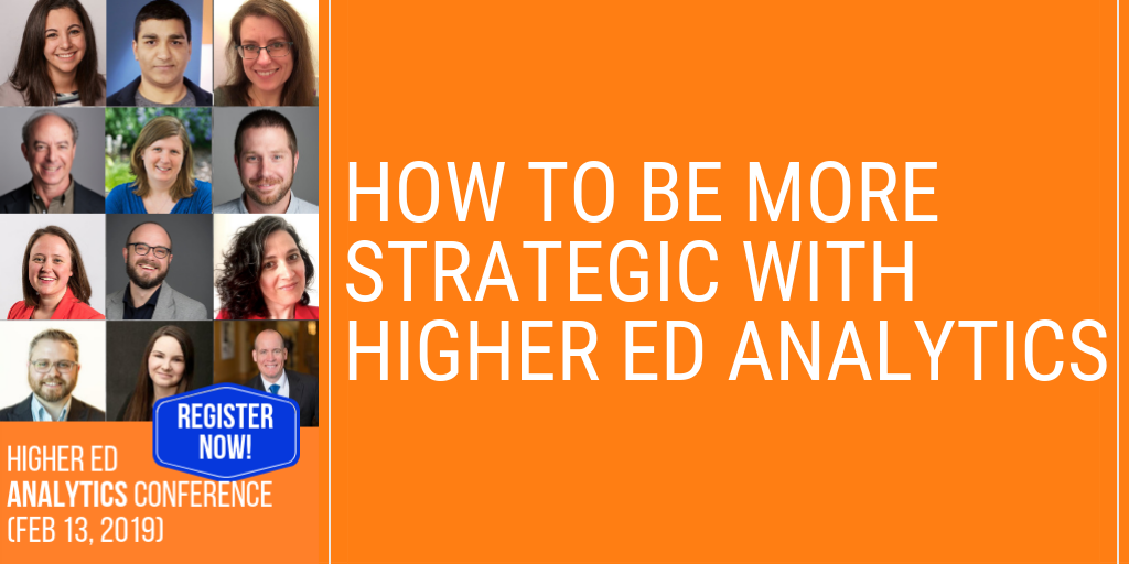 How to be more strategic with analytics in #highered