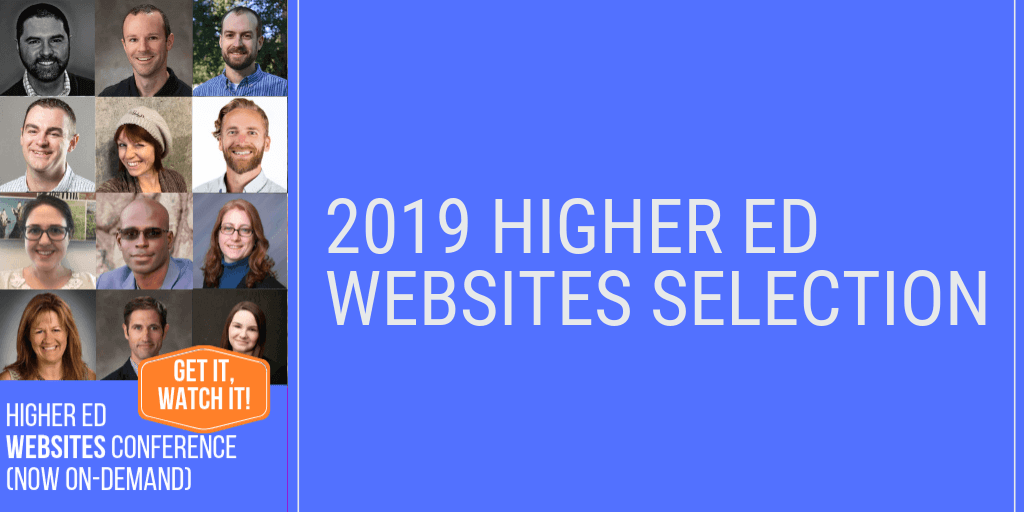 33 Favorite Higher Ed Websites Selected by Peers – 2019 edition