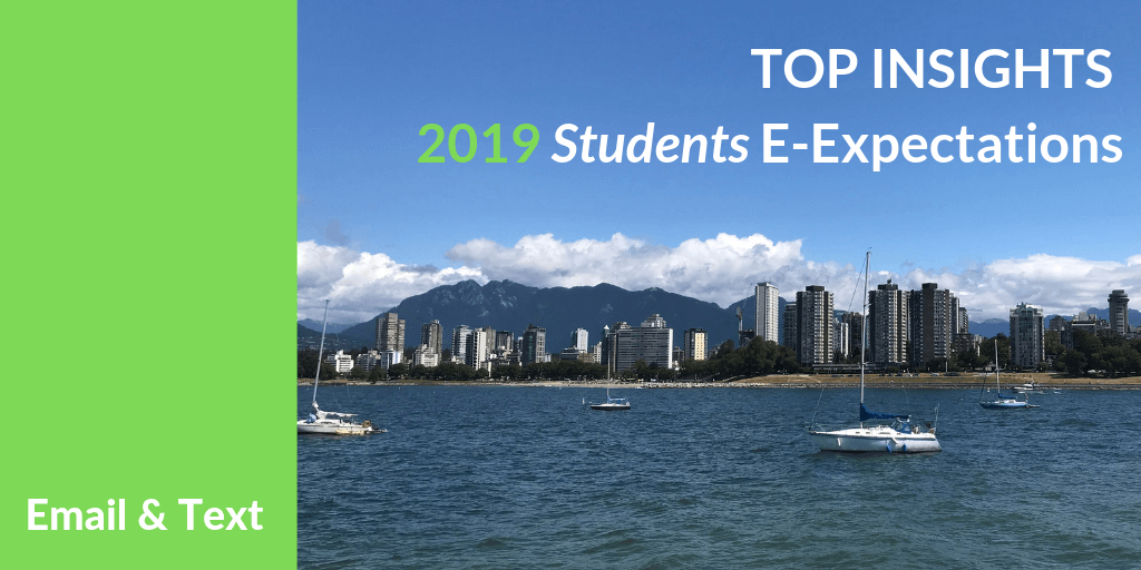 Top Insights on Email & Text for #HigherEd from the 2019 Student E-Expectations Survey [Exclusive]