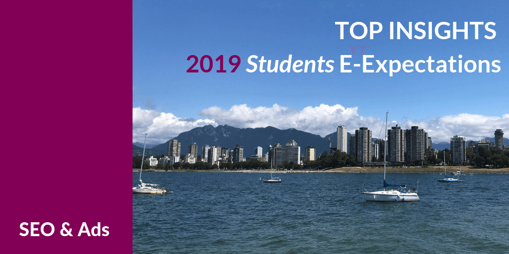 Top Insights on SEO & Ads for #HigherEd from the 2019 Student E-Expectations Survey [Exclusive]