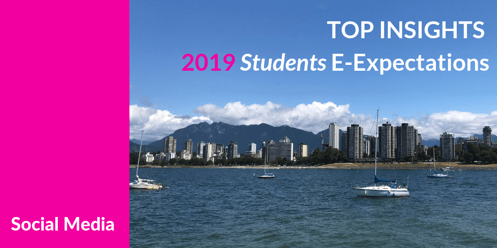 Top Insights on Social Media for #HigherEd from the 2019 Student E-Expectations Survey [Exclusive] #hesm