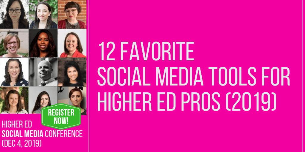 12 Favorite Social Media Tools for #HESM Professionals (2019 edition)