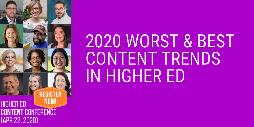 2020 Best Higher Ed Content Trends
